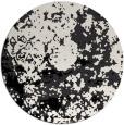 rug #1085878   round black damask rug