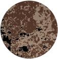 rug #1085890 | round brown damask rug