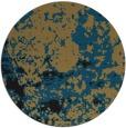 rug #1085902 | round black faded rug