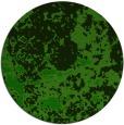 rug #1085934 | round green damask rug