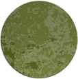 rug #1086002 | round green damask rug