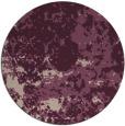 rug #1086038 | round pink damask rug