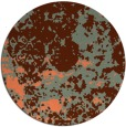 rug #1086090 | round red-orange traditional rug