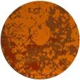 rug #1086142 | round red-orange damask rug