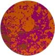 rug #1086150   round red-orange damask rug