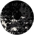 rug #1086162 | round black faded rug