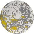 rug #1086198 | round yellow damask rug