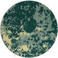 rug #1086206 | round yellow damask rug