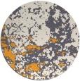 rug #1086238 | round light-orange faded rug