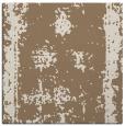 rug #1086766 | square mid-brown damask rug