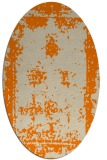 rug #1086978 | oval orange borders rug