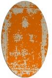 rug #1086979 | oval faded rug