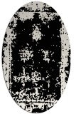 rug #1086982 | oval white faded rug