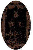 rug #1086994 | oval brown graphic rug