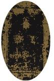 rug #1087006 | oval black graphic rug