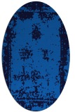 rug #1087010 | oval blue graphic rug