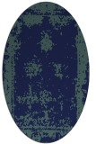 rug #1087018 | oval blue traditional rug