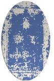 rug #1087026 | oval blue faded rug