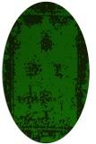 rug #1087038 | oval green traditional rug