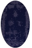 rug #1087066 | oval blue-violet graphic rug