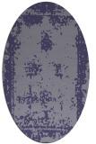 rug #1087070 | oval blue-violet traditional rug