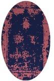 rug #1087074   oval blue-violet faded rug