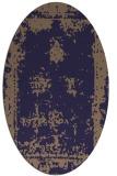 rug #1087086 | oval blue-violet borders rug