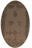 rug #1087089 | oval faded rug