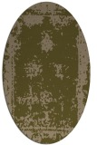 rug #1087094 | oval brown graphic rug