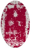 rug #1087098 | oval red traditional rug