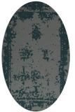 rug #1087110 | oval green damask rug