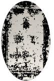 rug #1087122 | oval black traditional rug
