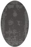rug #1087130 | oval brown damask rug