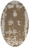 rug #1087134 | oval beige faded rug