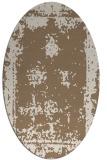 rug #1087134 | oval beige damask rug