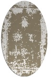 rug #1087138 | oval white faded rug