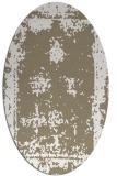 rug #1087138 | oval mid-brown borders rug