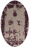 rug #1087142   oval pink damask rug