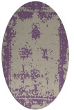 rug #1087162 | oval purple traditional rug