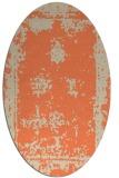 rug #1087190 | oval beige borders rug