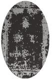 rug #1087194   oval orange faded rug