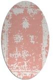 rug #1087210 | oval white faded rug