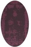 rug #1087214 | oval purple borders rug