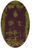 rug #1087218 | oval green traditional rug