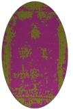 rug #1087220 | oval faded rug