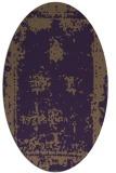 rug #1087222 | oval purple faded rug