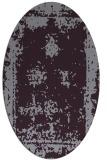 rug #1087226 | oval purple damask rug