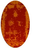 rug #1087234 | oval red damask rug