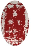 rug #1087238 | oval red traditional rug