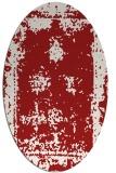 rug #1087238 | oval red borders rug